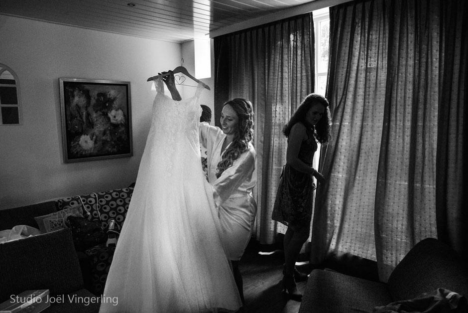 bruidsjurk bruid voorbereidingen