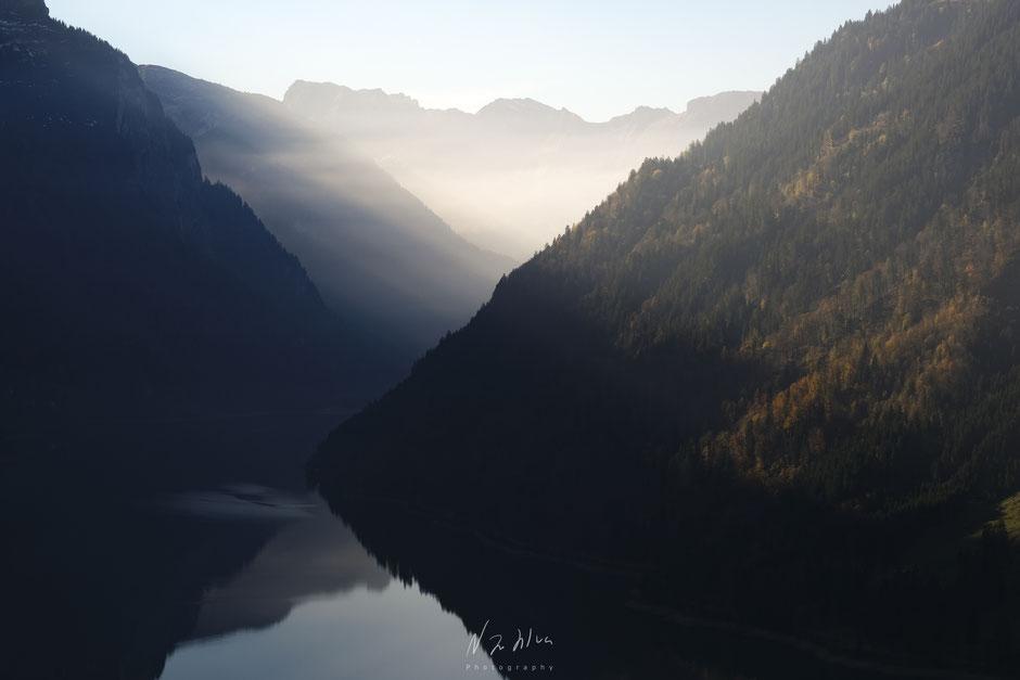 Sonnenschein am Klöntalersee