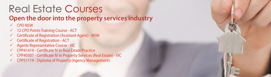 Real Estate course online, CPD Points, Certificate of Registration Course, Certificate IV in Property Services