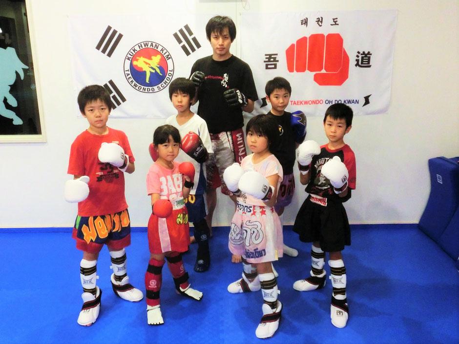 子供のためのキックボクシング