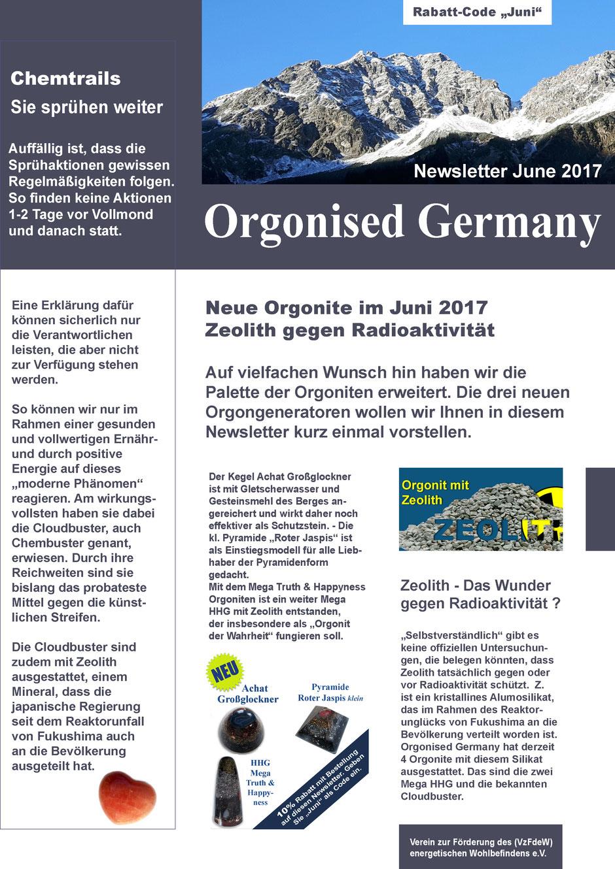 Newsletter Orgon Orgonit