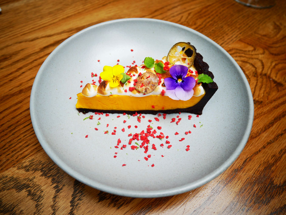 Calamansi chocolate tart at Open Door Policy