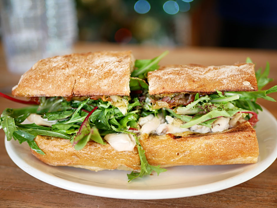 Chicken Mozzarella Ciabatta Sandwich from oh deli cafe singapore