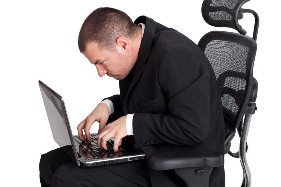 Sitting with bad posture - how not to do it!