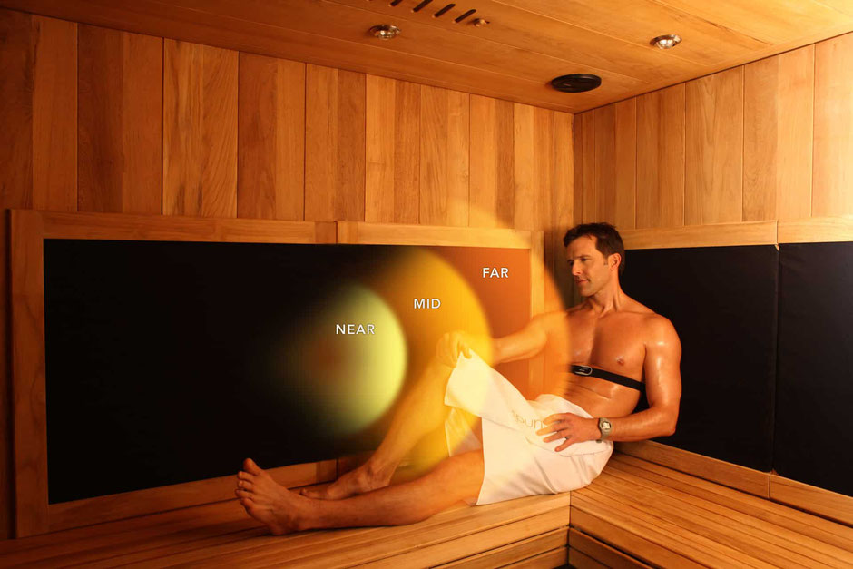 A full spectrum infrared sauna offers mid, near and far infrared heat healing for muscle pain and stiffness relief