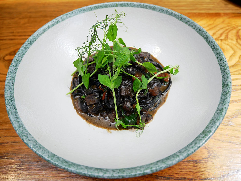 Charcoal spaghetti at Open Door Policy