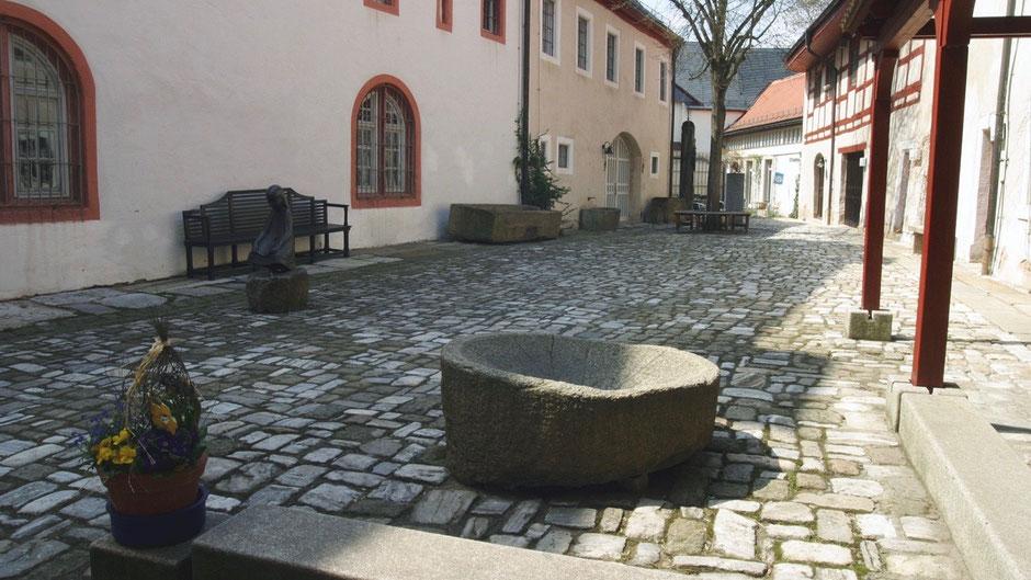 Fichtelgebirgsmuseum in Wunsiedel – Museumsinnenhof
