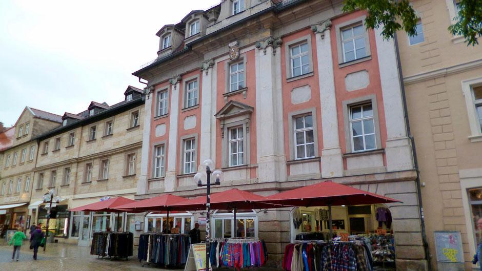 Bayreuth, Maxstraße 9 – Jean Pauls 1. Wohnung in Bayreuth, von 1804 bis 1805