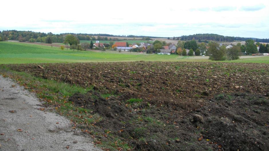Ziel des Jean-Paul-Weges: das Dorf Kleinhül