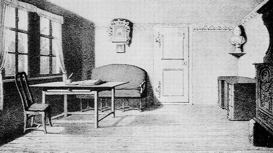 Jean Pauls Arbeitsstube in der Rollwenzelei – Deutsche Staatsbibliothek Berlin