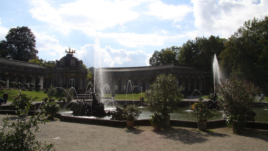 Eremitage Bayreuth – Wasserspiel der Oberen Grotte, es ist nur in Intervallen zu sehen