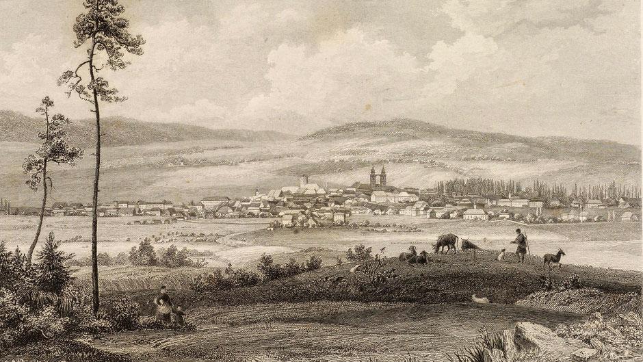 Bayreuth um 1840 – gezeichnet von Johann Poppel
