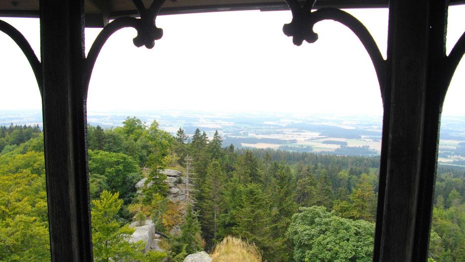 Blick vom Großen Waldstein – fast bis nach Wunsiedel