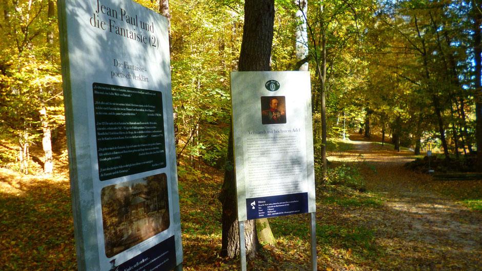 """Groß- und Sonderstation 134 """"Jean Paul und die Fantaisie"""" (2) auf dem Talweg im Schlosspark Fantaisie"""