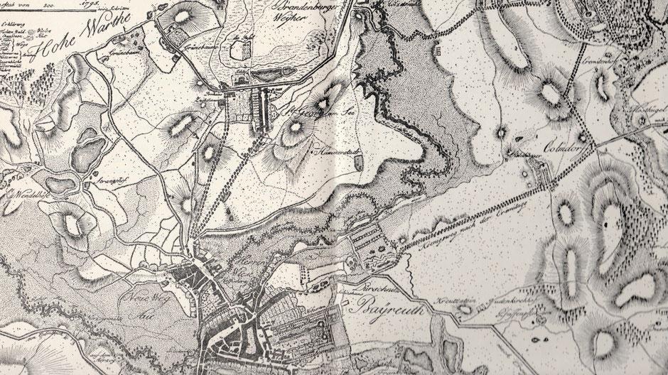 Bayreuth nach dem Plan von J. C. L. von Reiche 1795