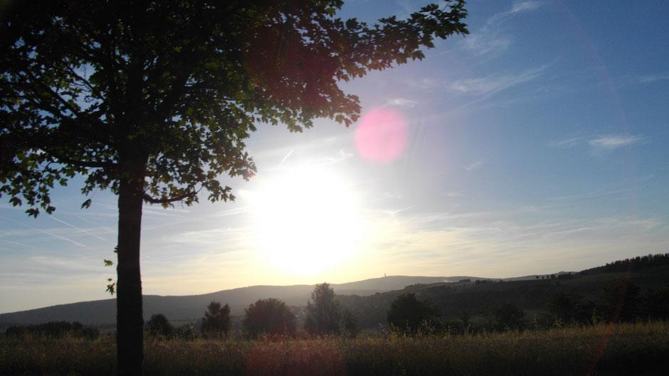 Sonnenuntergang bei Leupoldsdorf am 15. August 2012