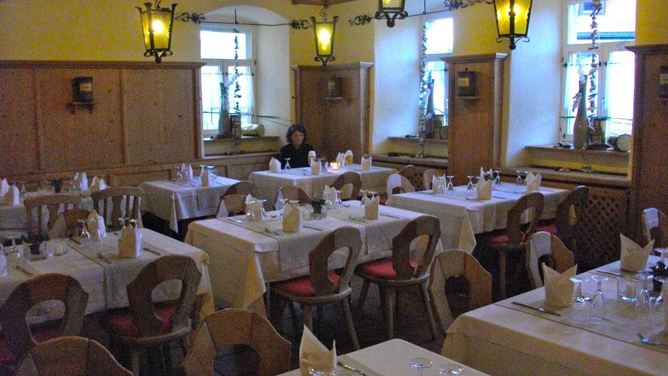 """Im Gasthof """"Zur Sonne"""", das zum Jean-Paul-Hotel in Schwarzenbach a.d. Saale gehört"""