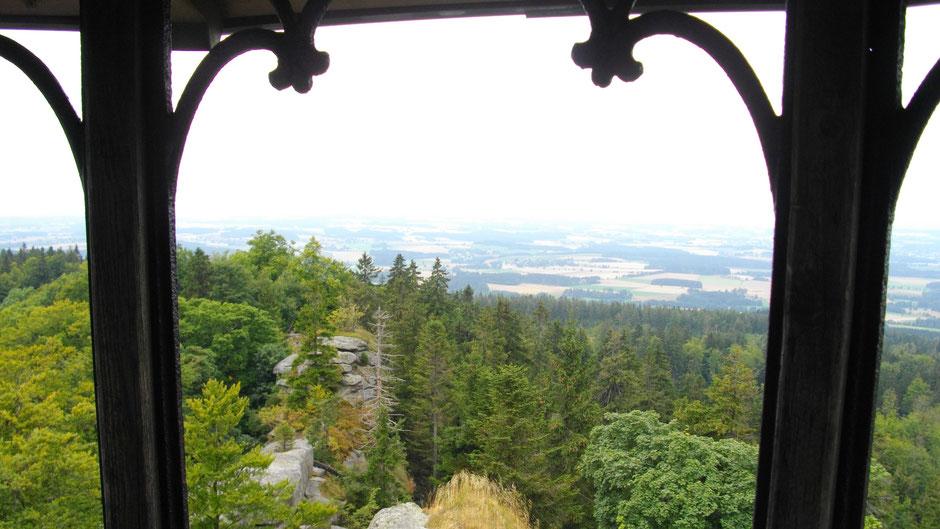 Aussicht auf dem Waldstein/Fichtelgebirge