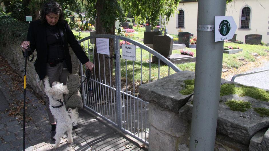 Der Jean-Paul-Weg führt in Goldkronach durch den Friedhof