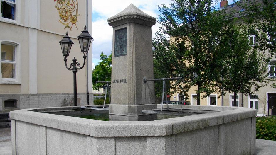Jean-Paul-Brunnen in Hof