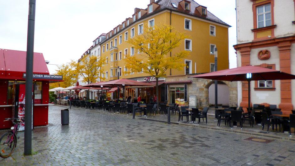 Bayreuth – Maxstraße 16 heute, gleich neben dem Alten Schloss, heute Finanzamt – Jean Paul wohnte hier von 1811 bis 1813