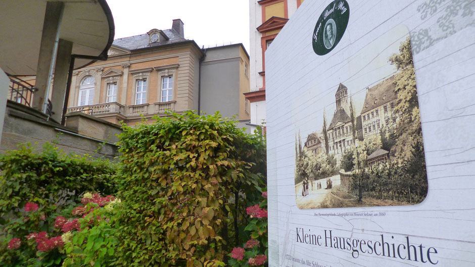 Am Schlossberglein/La-Spezia-Platz in Bayreuth Groß- und Sonderstation »Jean Paul und die Harmonie«