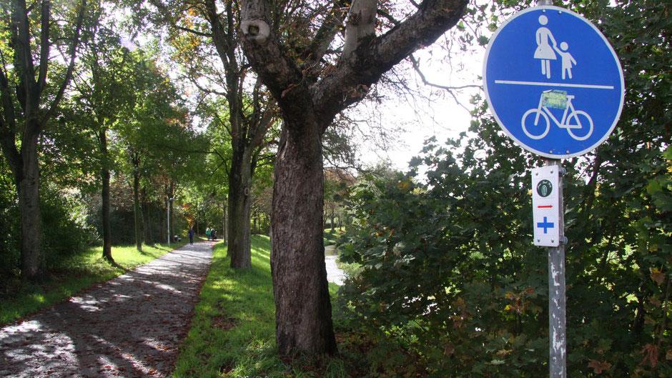Auf dem Jean-Paul-Weg entlang am Mistelbach