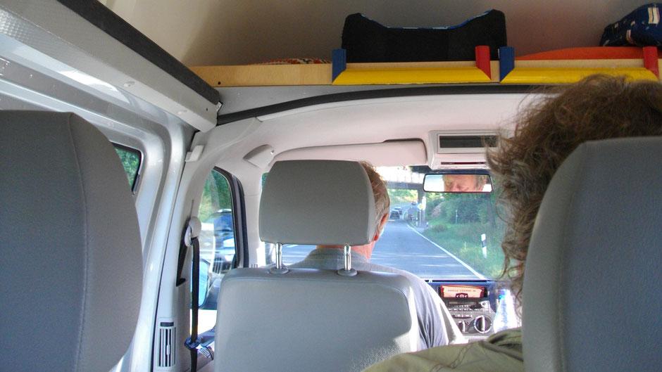 Im Kleinbus zurück nach Wunsiedel