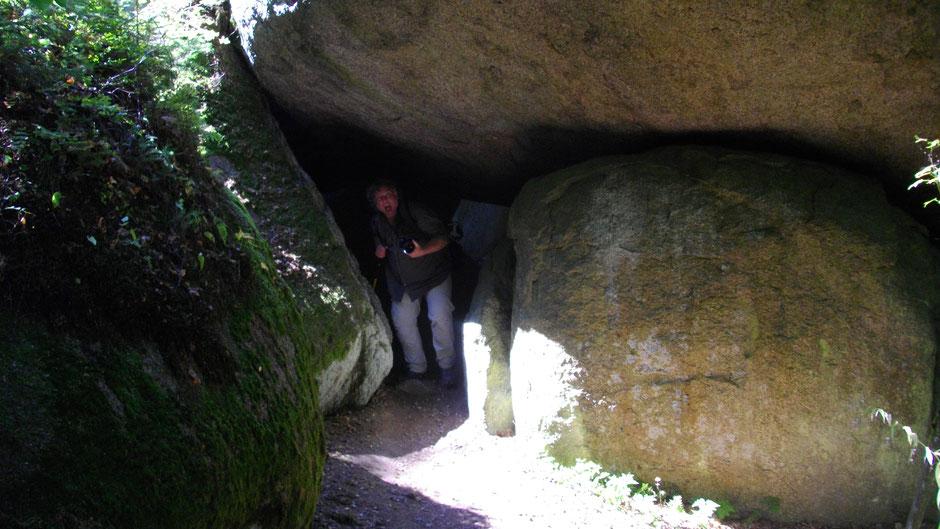 Im Felsenlabyrinth, Peter kam durch.