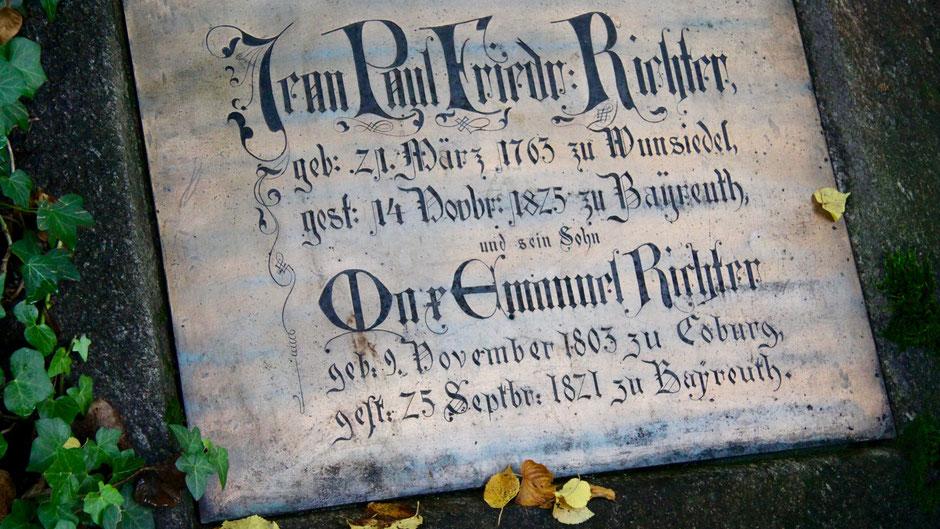 Bayreuth Stadtfriedhof – Grab von Jean Paul und dessen Sohn Max
