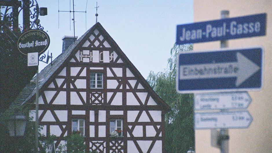 Gasthof Krauß gegenüber des Jean-Paul-Museums in Joditz