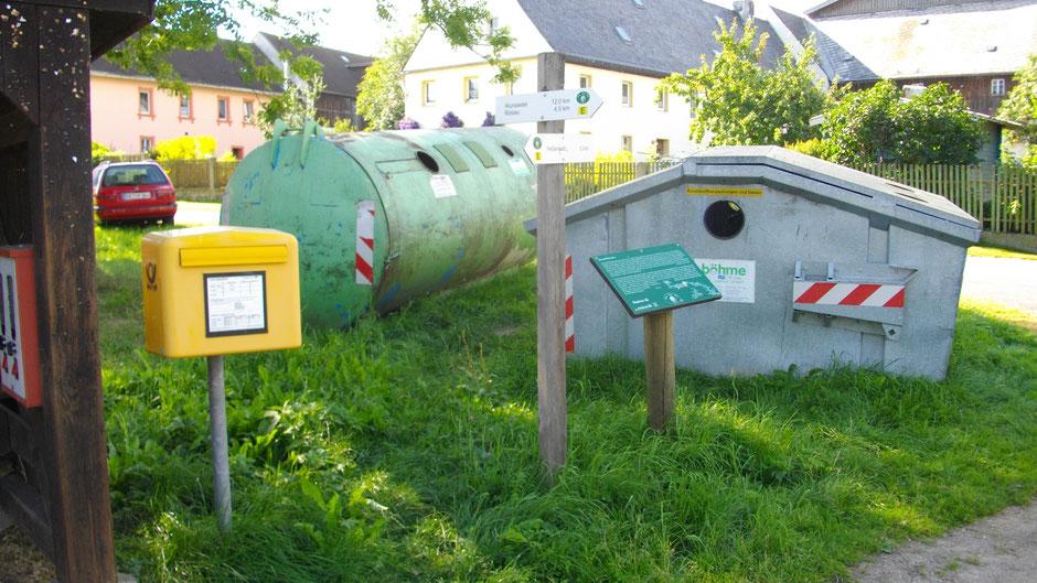 "Auf dem Jean-Paul-Weg, Stationstafel 46 ""Kartoffel-Freuden"" in dem Dorf Grub"