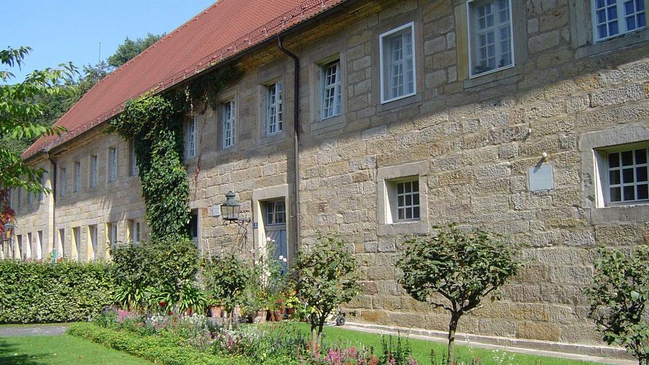 Marstall (Pferdestallungen) Eremitage Bayreuth, heute ein Restaurant mit Biergarten