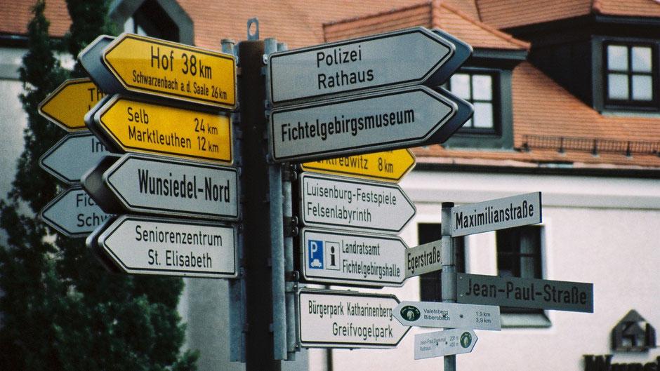 Vom Jean-Paul-Weg auf die Jean-Paul-Straße in Wunsiedel