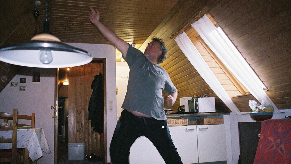 Peter macht  d i e  Siegerpose des Olympiasommers 2012