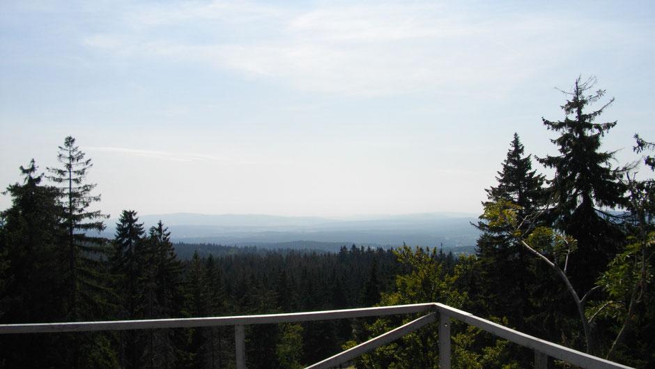Aussichtsplattform auf dem Weißmainfelsen