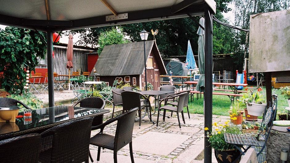 Biergarten des »Wirtshaus Völkenreuth« in Völkenreuth