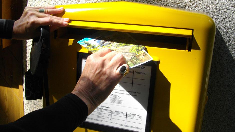 Briefkasten am Großen Waldstein