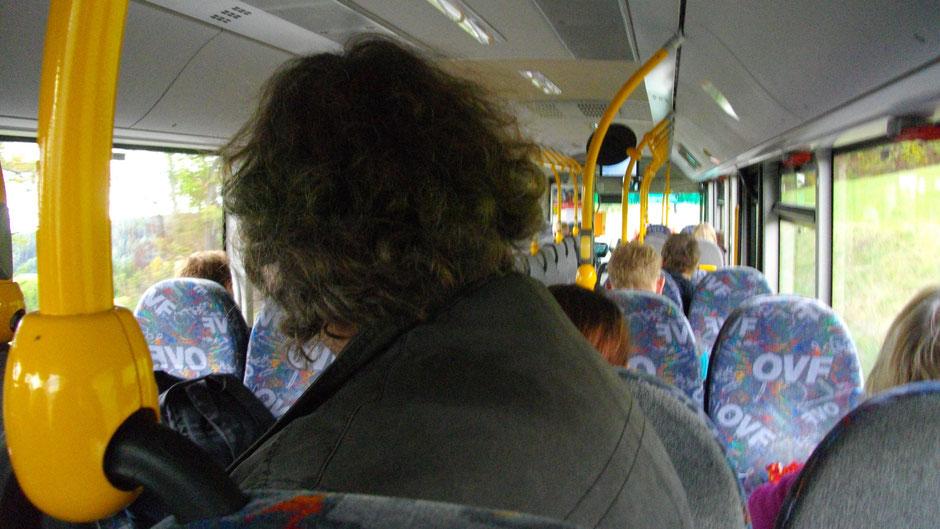 Im Bus zurück nach Bad Berneck und dann nach Goldkronach