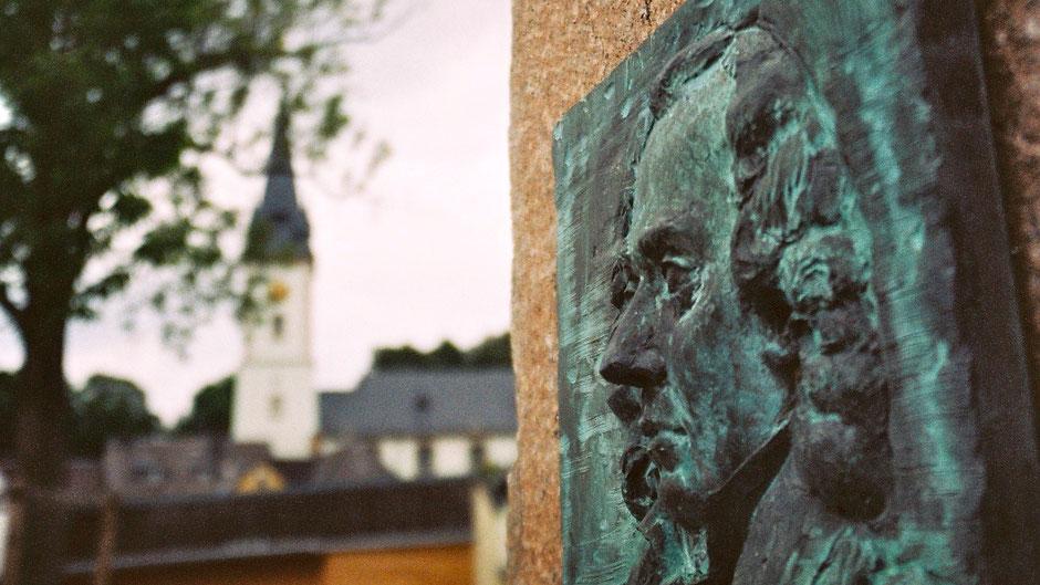 Schwarzenbach a. d. Saale – Stadtetappe, viel Informatives über Jean Paul