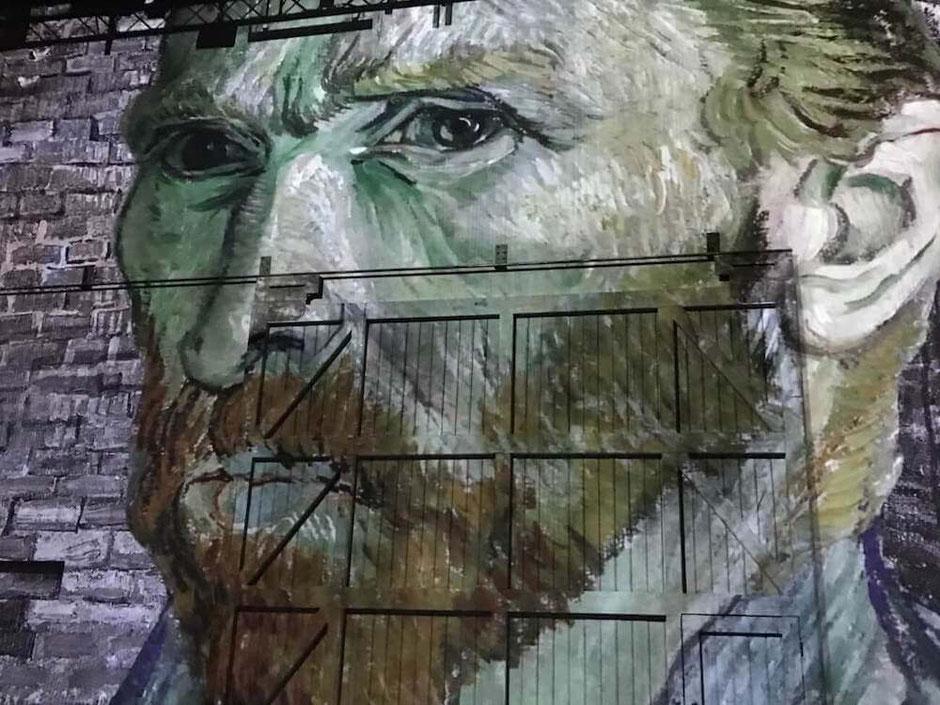Portrait Van Gogh Atelier des Lumières Paris