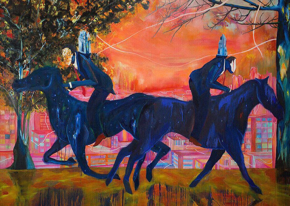 Strangers (2014) - Ka Fai Fung -212 cm x 150 cm - Peinture - 25 000 €
