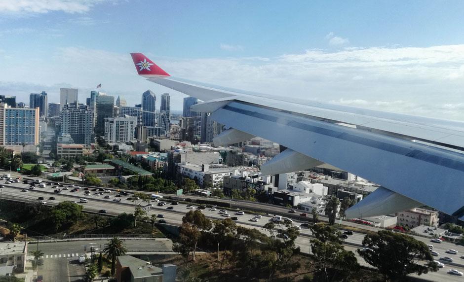 Landung in San Diego