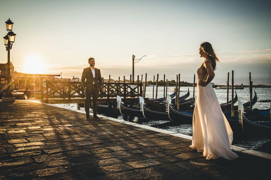 wedding in venice photoshoot