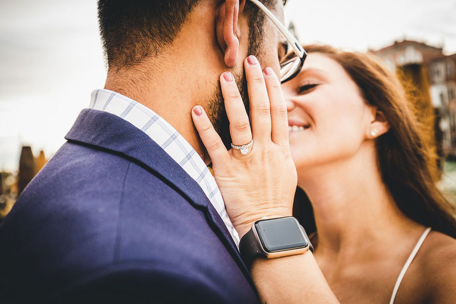 engagement in venice photo