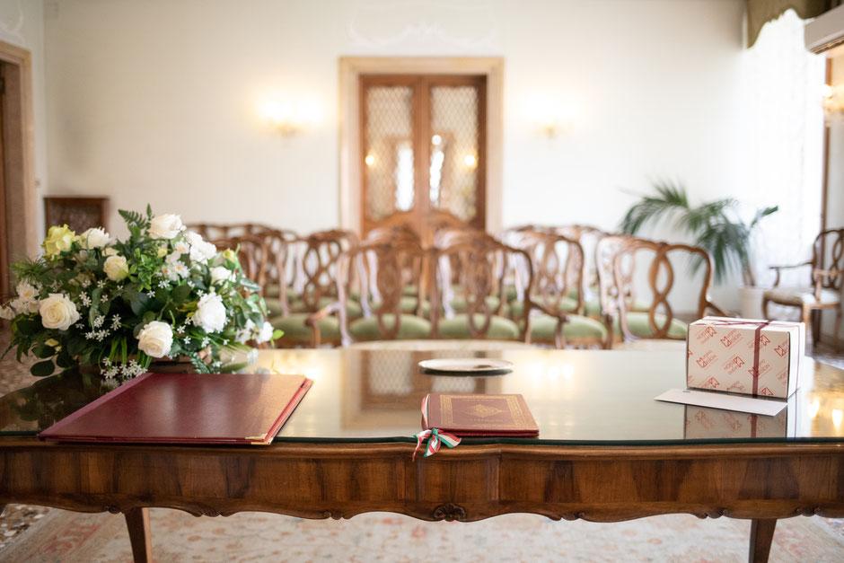 The cerimony room of Palazzo Cavalli