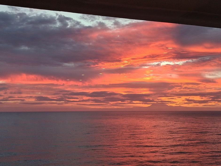 Sonnenaufgang, Atlantik, Ruhe, Meditation