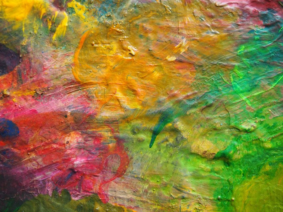 Acryl gießen, Farben mischen