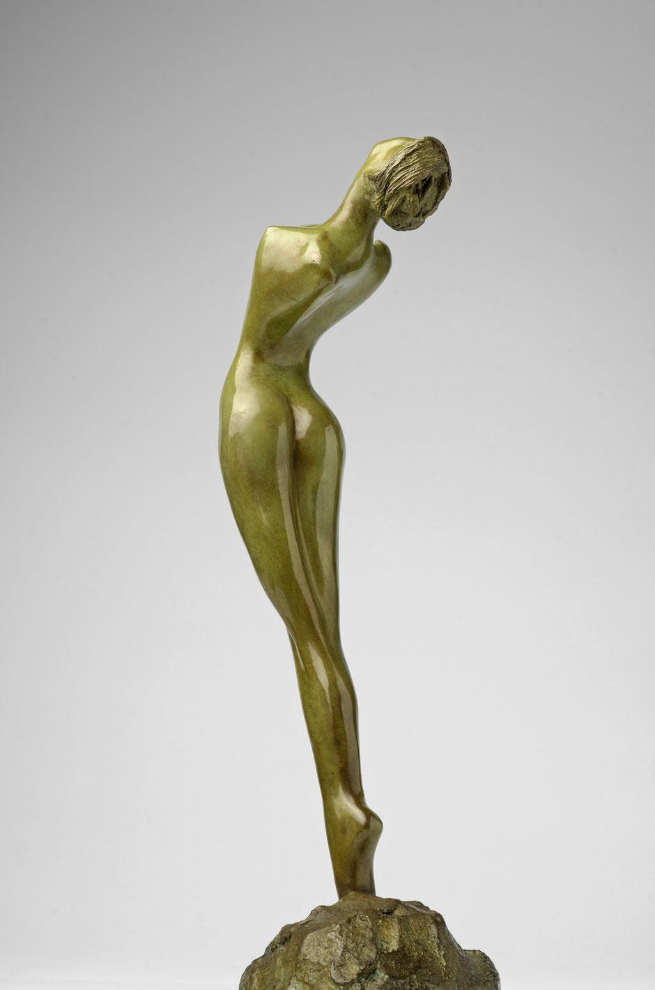 Femme au turban, bronze, Francine Bécard, sculpteur