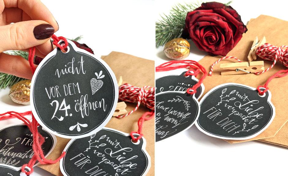 Geschenkanhänger basteln Weihnachten